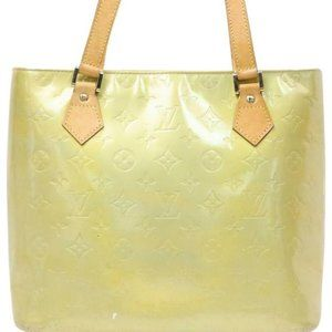 Louis Vuitton  Green-Yellow Vernis Houston Zip